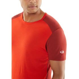 Icebreaker Amplify - Camiseta Running Hombre - rojo